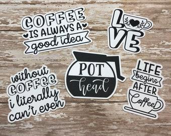 Coffee Die Cuts / Funny Die Cuts/Cardstock/ Vertical Layout / TN / Scrapbooking /  / Savannah Paper Co