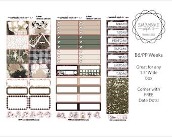 Farmhouse Christmas B6 PP WEEKS Weekly Kit / B6 Full Kit / Print Pression / Vertical Layout / Planner Stickers /  / Savannah Paper Co