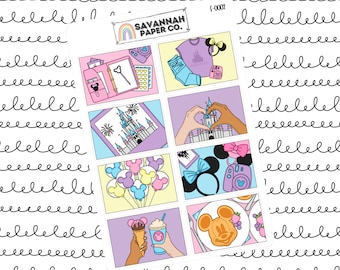 Magical World Flat Lay Stickers / Flatlay Sheet Icons / Functional Stickers / Erin Condren / Planner Stickers /  / Savannah Paper Co