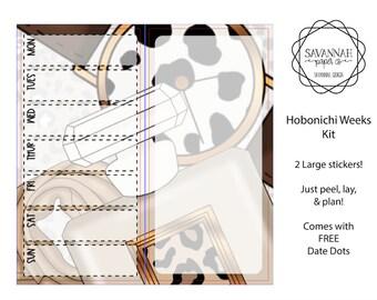 Autumn Glam Hobonichi Weekly Kit / Full Kit / Hobo Weeks / Fauxbonichi / Planner Stickers / Hobonichi Weeks / Savannah Paper Co