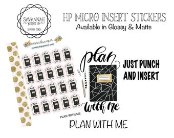 PLAN with Me Stickers / HP Micro Insert Stickers Functional Stickers Vertical Layout / Planner Stickers  Savannah Paper Co