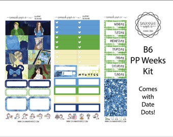 Neverland B6 PP WEEKS Weekly Kit / B6 Full Kit / Print Pression / Vertical Layout / Planner Stickers /  / Savannah Paper Co