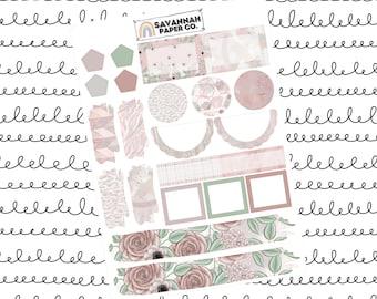 Rise Journaling One Page Kit / B6 Kit / PP Weeks / Horizontal /Vertical /  Planner Stickers / Savannah Paper Co