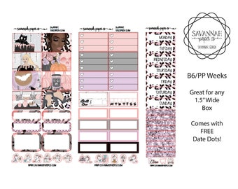 Halloween Glam B6 PP WEEKS Weekly Kit / B6 Full Kit / Print Pression / Vertical Layout / Planner Stickers /  / Savannah Paper Co