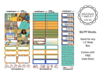 Fall Transition B6 PP WEEKS Weekly Kit / B6 Full Kit / Print Pression / Vertical Layout / Planner Stickers /  / Savannah Paper Co
