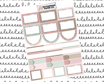 Rise Functionals One Page Kit / Vertical Kit / B6 Kit / PP Weeks / Horizontal / Planner Stickers / Savannah Paper Co
