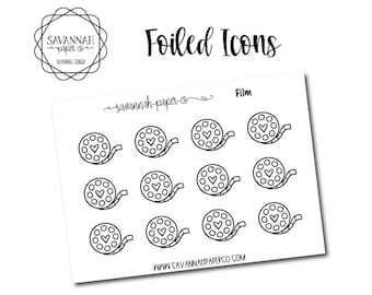 Film Foiled Stickers / Snarky Stickers / Functional Stickers / Planner Stickers / Savannah Paper Co