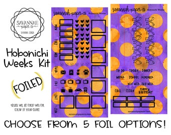 FOILED Hobonichi Weekly Kit / Full Kit / Hobo Weeks / Fauxbonichi / Planner Stickers / Happynichi / Foiled Stickers / Savannah Paper Co