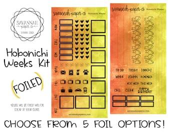 FOILED Mango Hobonichi Weekly Kit / Full Kit / Hobo Weeks / Fauxbonichi / Planner Stickers / Foiled Stickers / Savannah Paper Co