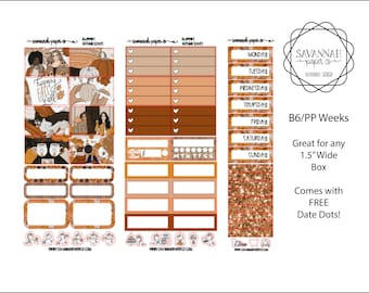 Autumn Leaves B6 PP WEEKS Weekly Kit / B6 Full Kit / Print Pression / Vertical Layout / Planner Stickers /  / Savannah Paper Co