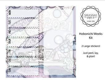 Bye 2020 Hobonichi Weekly Kit / Full Kit / Hobo Weeks / Fauxbonichi / Planner Stickers / Hobonichi Weeks / Savannah Paper Co