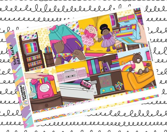 Featured listing image: Totally Rad Weekly Kit / Full Kit / Mini Kit / Vertical Kit / B6 / PP Weeks / Vertical / 80s / Savannah Paper Co