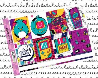 Back to the 90s Weekly Kit / Full Kit / Mini Kit / Vertical Kit / Savannah Paper Co