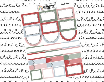 Holiday Dinner Functionals One Page Kit / Vertical Kit / B6 Kit / PP Weeks / Horizontal / Planner Stickers / Savannah Paper Co