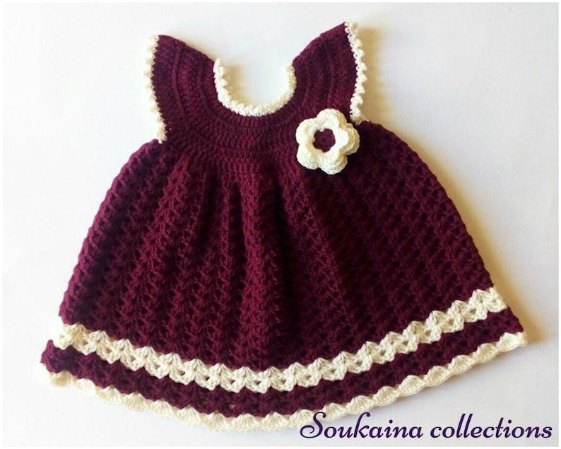 Crochet Baby Dress Crochet Baby Dress Pattern Crochet baby image 0