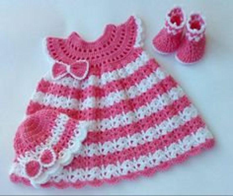 Crochet Baby Dress SET Crochet Baby Dress Pattern Crochet image 0