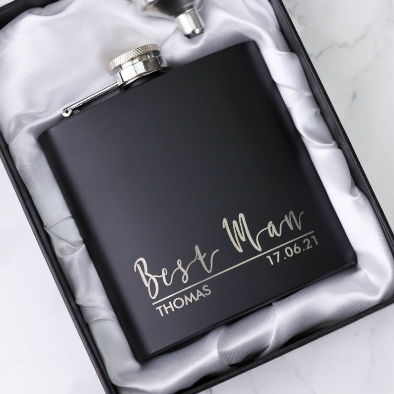 Hip Flask Best Man Gifts From Groom