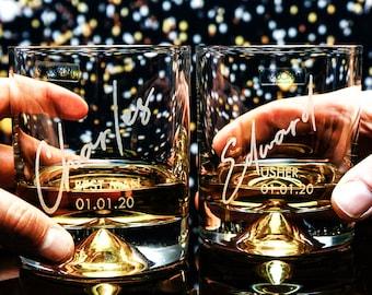 Groomsman, Groomsmen, Best Man, Usher Gifts Personalised Heavy Glass Tumbler OMG1-JL27