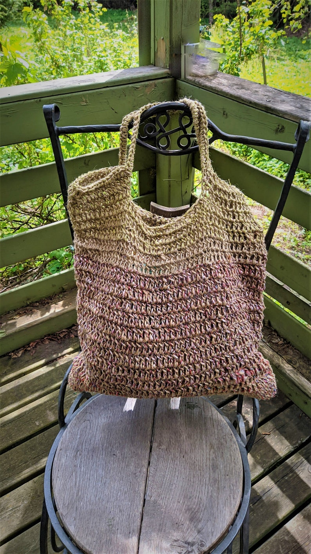 Market bag crochet jute eco large gift summer