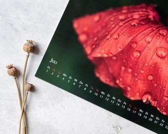 """Photo calendar """"Light-driven"""" A3 2022, nature photography, wall calendar, monthly calendar"""