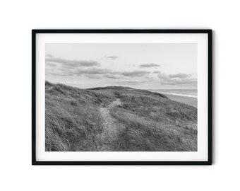 Photography dune landscape (Denmark) in black and white, 13 x 18 cm, 21 x 30 cm, 30 x 40 cm, print