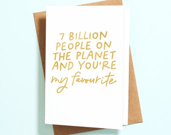 You/'re 1 in 7 Billion thank you card appreciation gratitude Thanks for being you texture letterpress card unique fingerprint