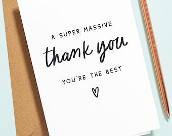 Amazing Friend Thank You Card, Friendship Card, Bestie Thank You Card, Best Friend Thank You Card, You're The Best Thank You Card TY019