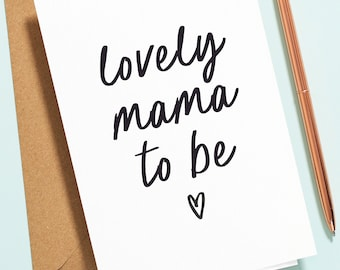 Mummy To Be Card, New Baby Card, Pregnancy Card, Baby Shower Card, Lovely Mama To Be, New Mum, Baby Girl, Baby Boy NB016