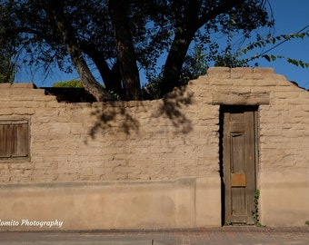 Weathered Adobe Wall and Gate