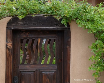 A gate in the Acequia Madre district of Santa Fe
