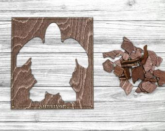Survivor 41 Puzzle Replica - Turtle Puzzle - Wood Version