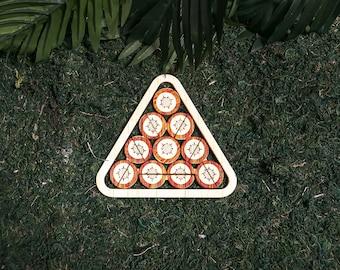 Survivor Puzzle Replica - Triangle Puzzle - San Juan Del Sur