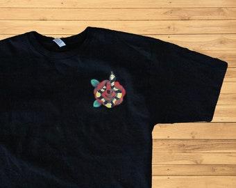 f104e507 snakes and rose t-shirt unisex men size