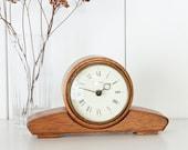 Mid Century Table Clock Fireplace Watch Wood Retro Kienzle Chronoquartz Taste Mug Solid Wood Deco Decoration Design Brass Vintage Clock