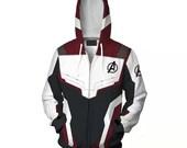 Avengers Endgame Quantum Realm Coat Sweatshirt Jacket Advanced Tech Hoodie Cosplay