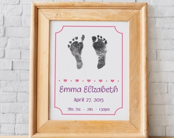 Baby Art My Little Bird Multi Wall Frame Wood Colour Newborn Photo Frame with Hand and Foot Print Kit