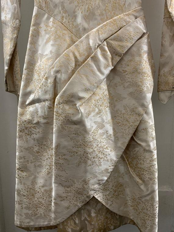 Brocade 40s handmade wedding dress/40s brocade wi… - image 4
