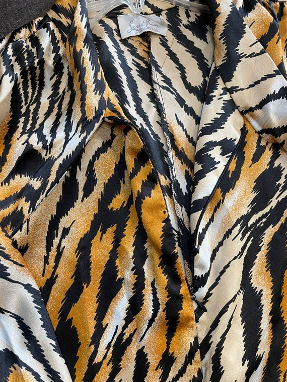 Lucie Ann Beverly Hills Tiger Print Caftan/House … - image 3