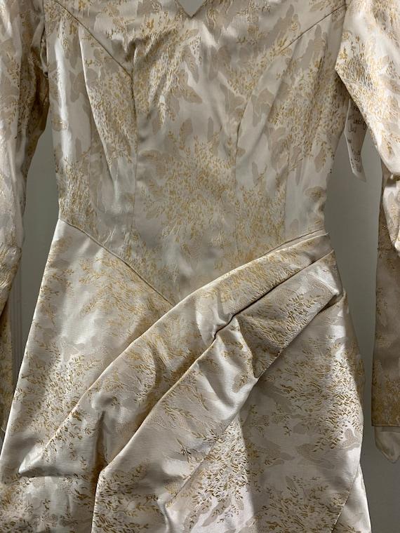 Brocade 40s handmade wedding dress/40s brocade wi… - image 10