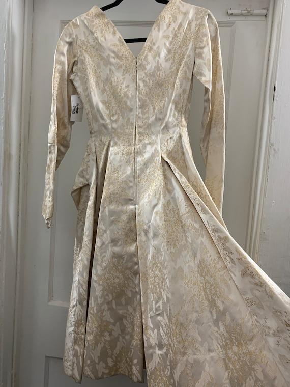 Brocade 40s handmade wedding dress/40s brocade wi… - image 6