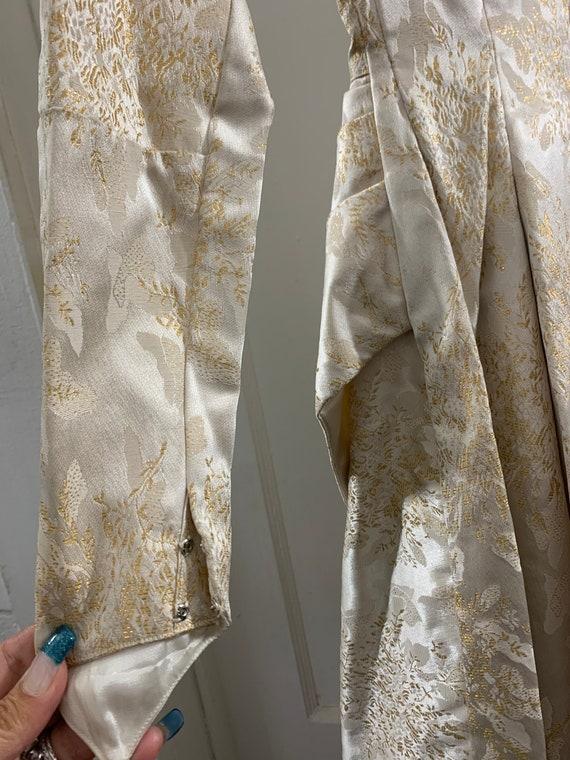 Brocade 40s handmade wedding dress/40s brocade wi… - image 8