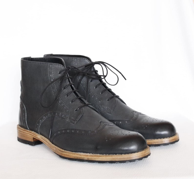 107f711a576b3 Handmade Oxford Wingtip Leather Boots