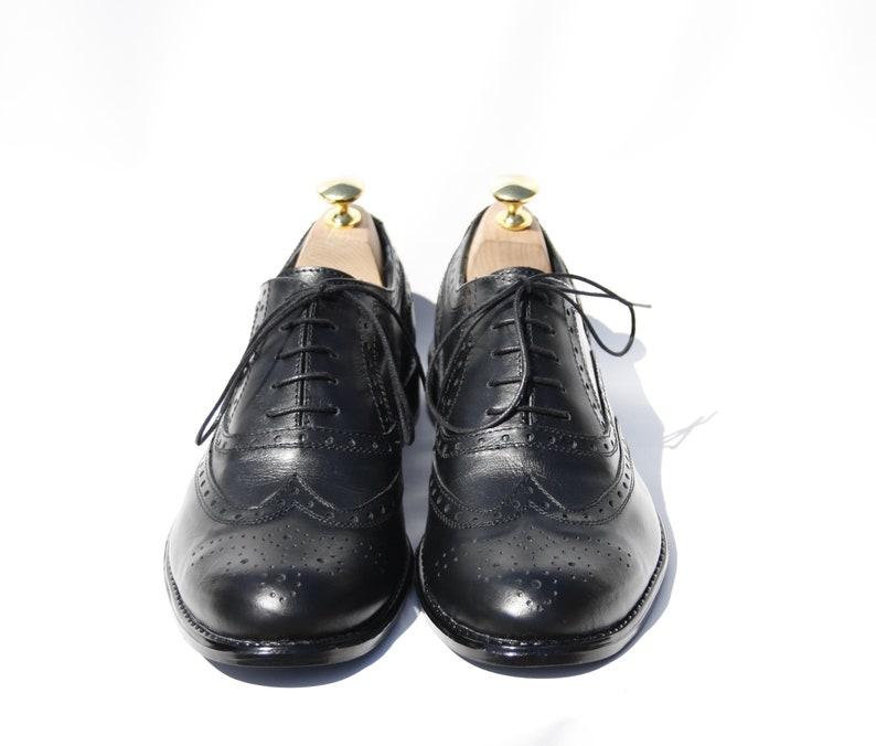 92861b8b42027 Handmade Oxford Wingtip Black Brogue