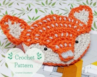 Fox brooch crochet pattern, fox brooch, fox crochet pattern, fox Christmas bauble, autumn brooch pattern, holiday ornament crochet pattern