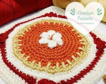 Pumpkin Pie Granny Square Pattern, crochet pattern, crochet squares, granny squares, crochet square pattern, autumn crochet, fall decor