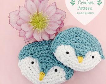 Penguin brooch crochet pattern, penguin brooch, penguin crochet pattern, winter crochet brooch pattern, winter animal crochet pattern