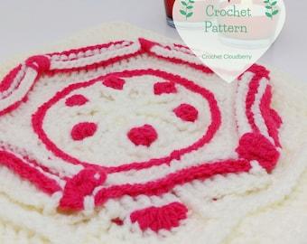 Ruby Hexagon Granny Square Pattern, Crochet Square Pattern,  Afghan Block, Crochet Square Tutorial
