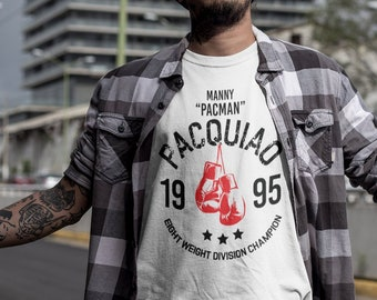 52cb68879c8e Manny Pacquiao Classic 1995 Eight Weight Division Champion Graphic UNISEX T- Shirt