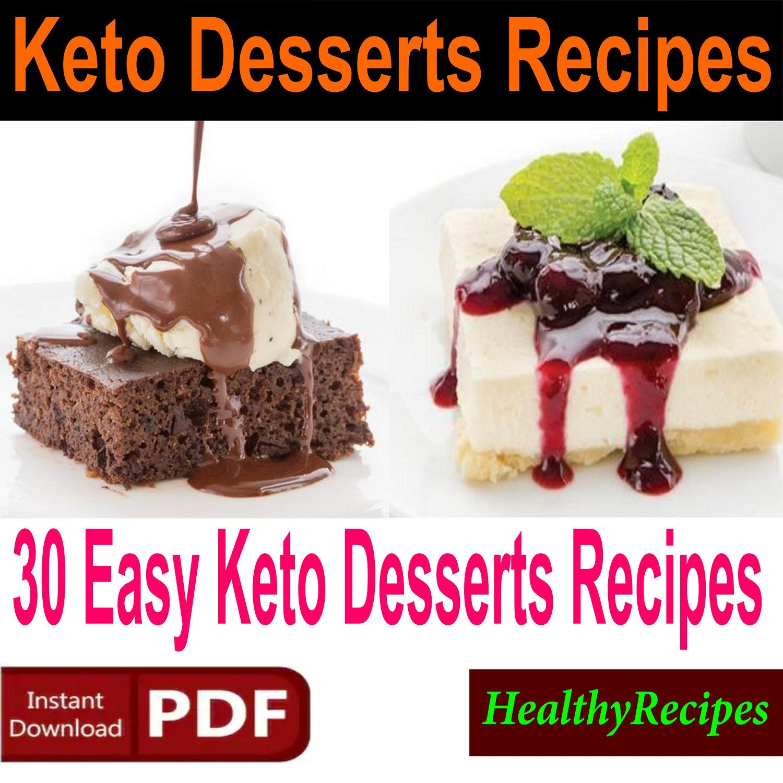 Keto Desserts Recipes 30 Easy Keto Desserts Recipes Candy Etsy