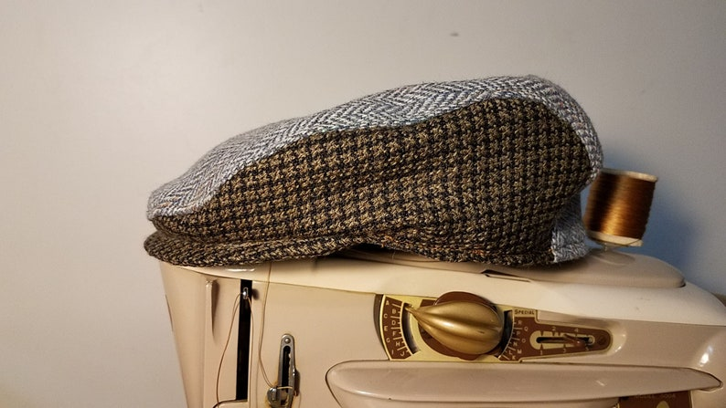 Traditional Design Hat Size 23 inch or 7 38 Tweed Flat Cap 100/% Vintage Wool